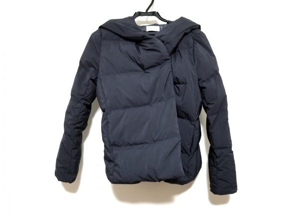 PLS+T(PLST)(プラステ) ダウンジャケット サイズS レディース ネイビー 冬物