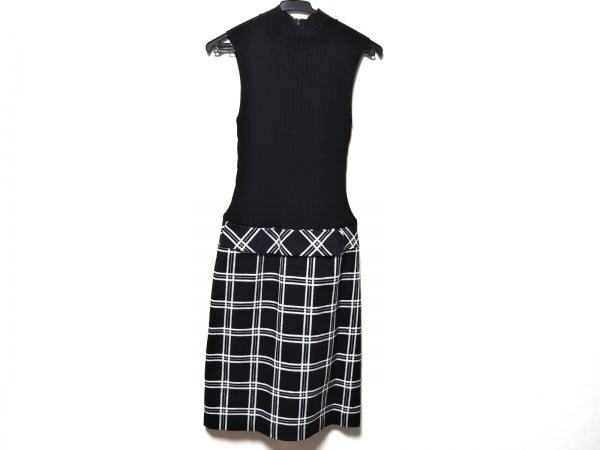 エムズグレイシー ワンピース サイズ38 M レディース美品  黒×白×ネイビー