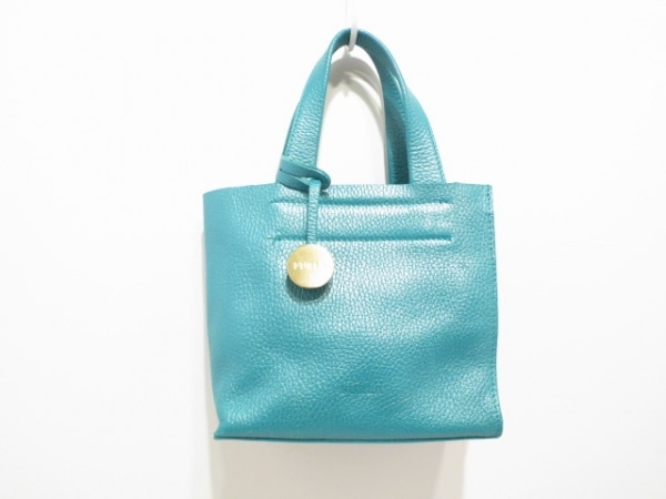 FURLA(フルラ) ハンドバッグ美品  グリーン×ゴールド レザー