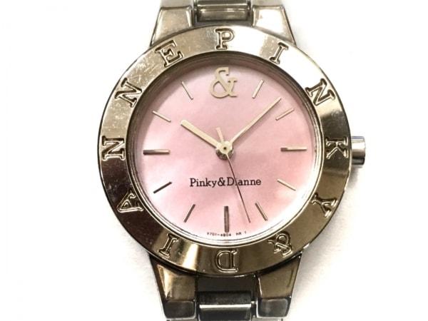ピンキー&ダイアン 腕時計 V701-2H60 レディース シェル文字盤 ピンクシェル