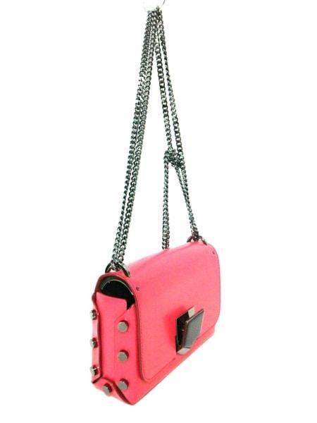 ジミーチュウ ショルダーバッグ美品  ロケットプティ ピンク チェーンショルダー