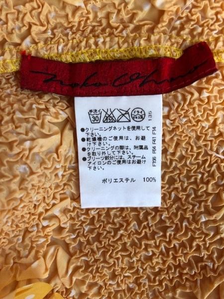 ノコオーノ カーディガン サイズ40 M レディース美品  オレンジ フラワー/シワ加工