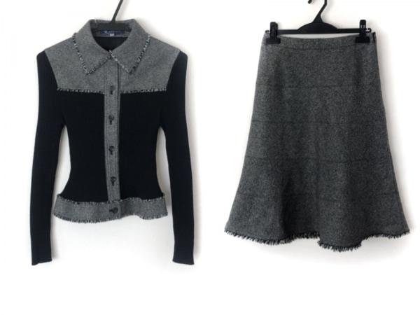 エムズグレイシー スカートセットアップ サイズ38 M レディース美品  グレー×黒