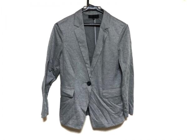 アンタイトル ジャケット サイズ3 L レディース美品  ダークグレー×ライトグレー