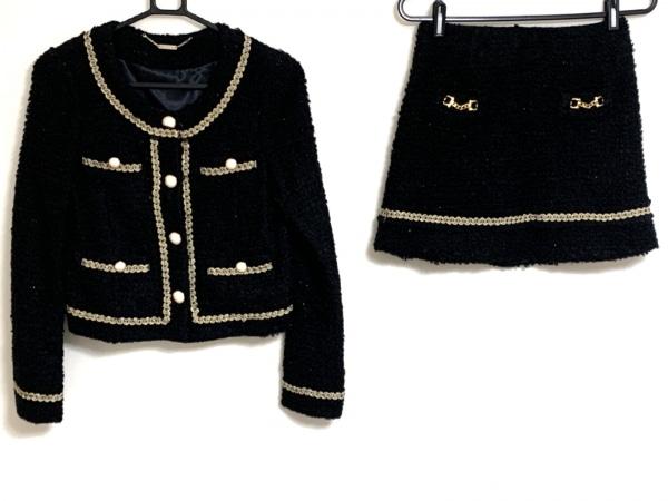 joias(ジョイアス) スカートスーツ サイズ1 S レディース 黒×ゴールド