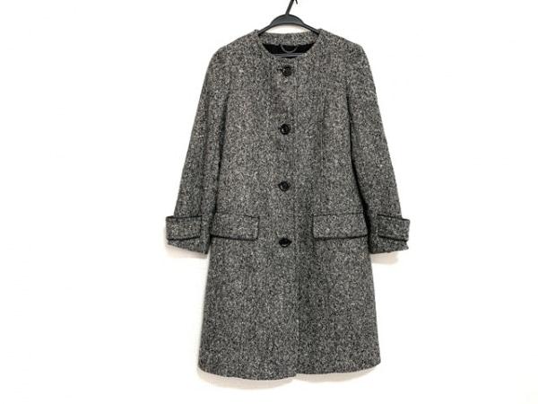 ニジュウサンク コート サイズ38 M レディース美品  黒×アイボリー×ベージュ 冬物