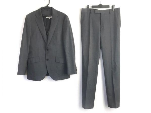 キャサリンハムネット シングルスーツ サイズL メンズ グレー 3点セット