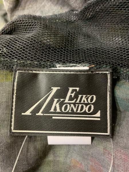 エイココンドウ ジャケット サイズ42 L レディース美品  黒×カーキ×マルチ フリル