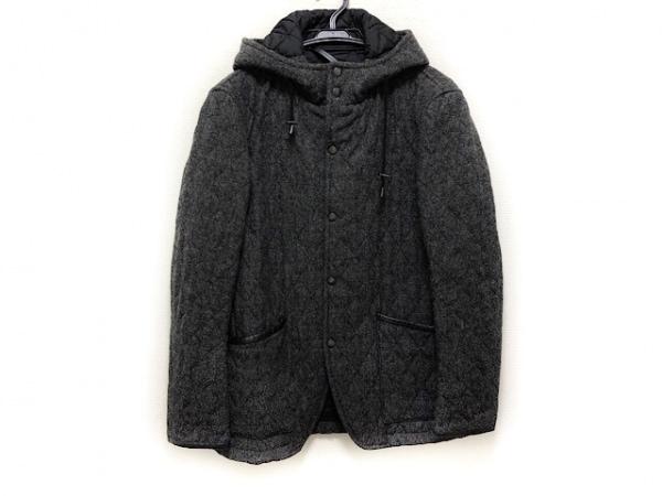 トゥモローランド コート サイズM メンズ ダークグレー キルティング/冬物