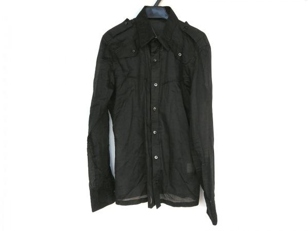 5351プールオム 長袖シャツ サイズ2 M メンズ新品同様  黒 シースルー