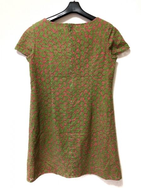 JOCOMOMOLA(ホコモモラ) ワンピース サイズ42 L レディース グリーン×レッド 刺繍