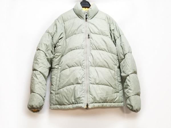 NIKE(ナイキ) ダウンジャケット サイズM レディース グレー×オレンジ