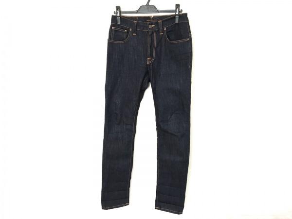 NudieJeans(ヌーディージーンズ) ジーンズ メンズ ネイビー×オレンジ
