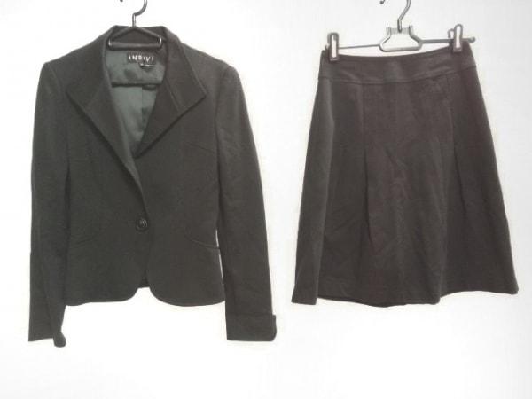 INDIVI(インディビ) スカートスーツ サイズ5 XS レディース 黒