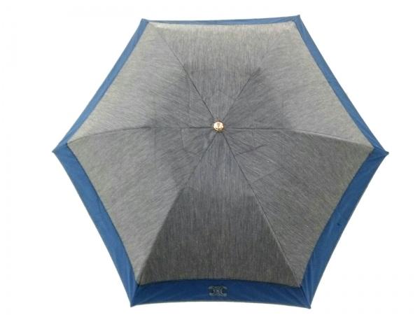 CELINE(セリーヌ) 折りたたみ傘美品  グレー×ネイビー 化学繊維