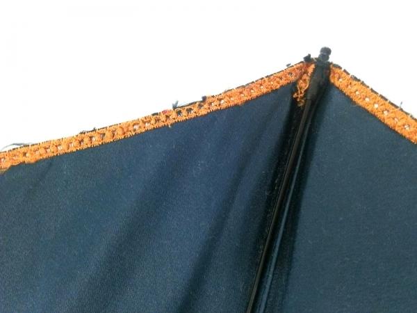 CELINE(セリーヌ) 折りたたみ傘美品  オレンジ×グレー 化学繊維