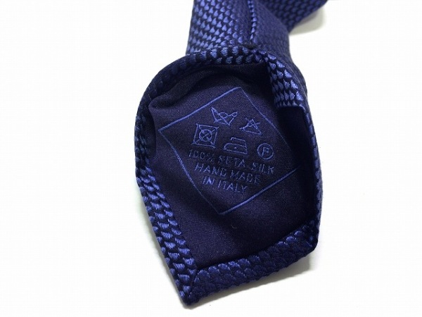Brioni(ブリオーニ) ネクタイ メンズ美品  ダークネイビー×ブルー