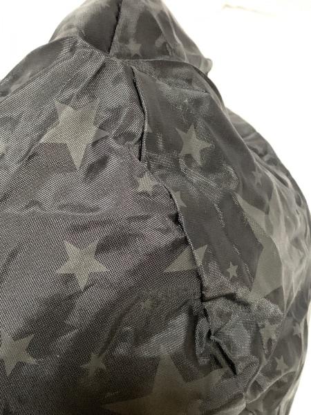 BEAMS(ビームス) ボストンバッグ 黒×ダークグレー スター/ポケットに収納可 ナイロン