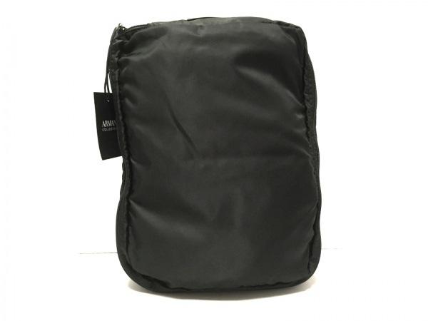アルマーニコレッツォーニ バッグ美品  黒 トラベルバッグ ナイロン×レザー