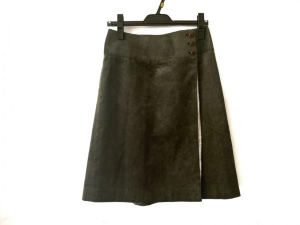 OLD ENGLAND(オールドイングランド) 巻きスカート サイズ36 S レディース カーキ