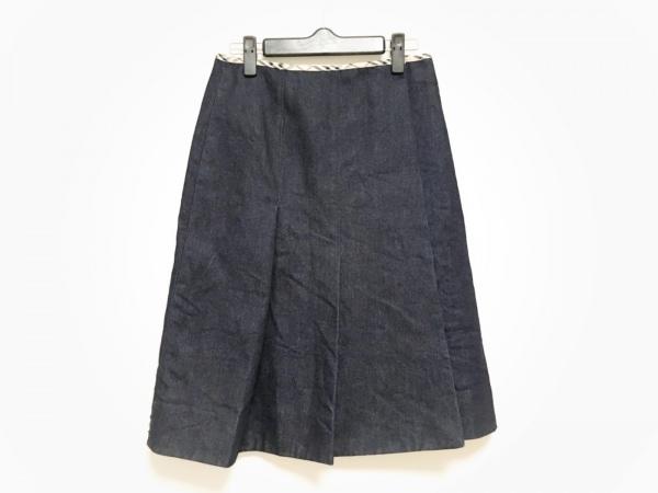 バーバリーロンドン 巻きスカート サイズ10 L レディース ネイビー デニム