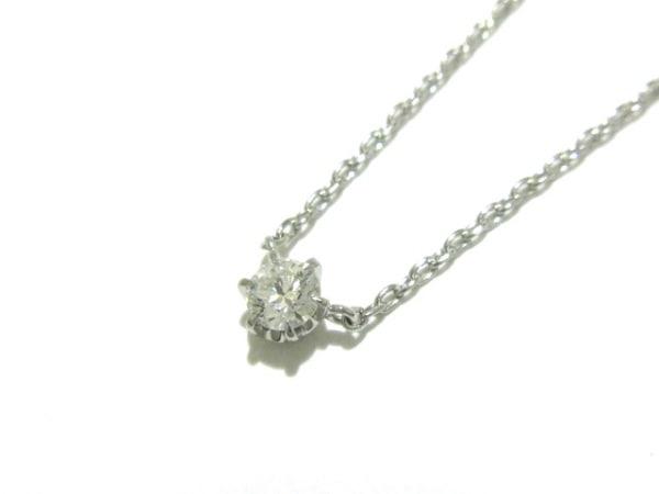 スタージュエリー ネックレス新品同様  Pt850×ダイヤモンド 0.1カラット