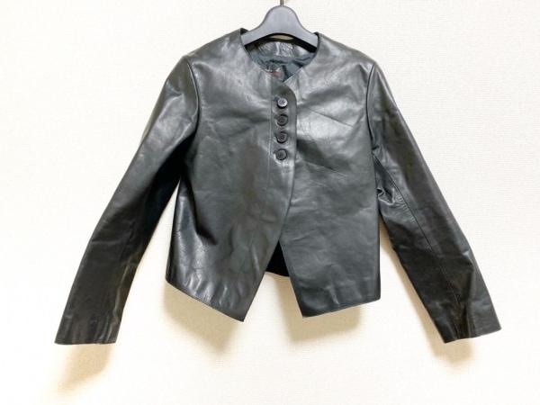 agnes b(アニエスベー) ジャケット サイズ38 M レディース美品  黒 レザー