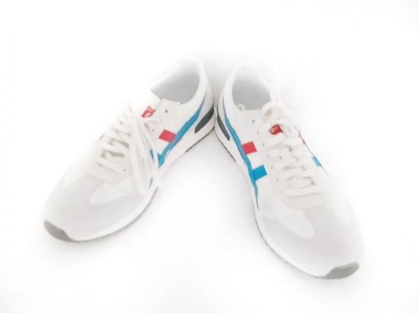 アシックス・オニツカタイガー スニーカー 26.0 メンズ 白×ライトグレー×マルチ