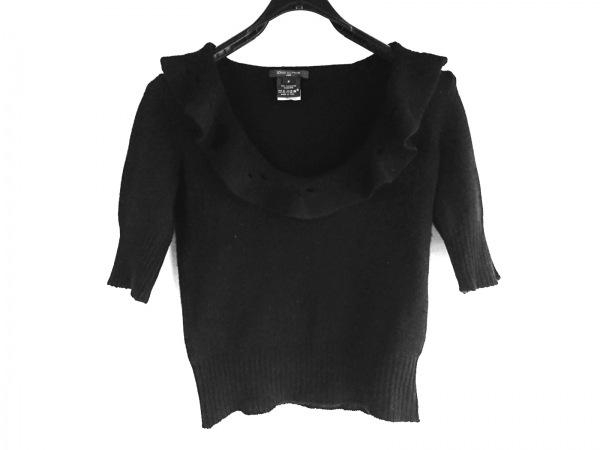 LOUIS VUITTON(ルイヴィトン) 半袖セーター サイズS レディース美品  - 黒 カシミヤ