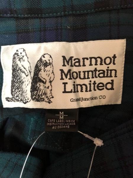マーモット 長袖シャツ サイズM メンズ ダークグリーン×ネイビー×黒 チェック柄