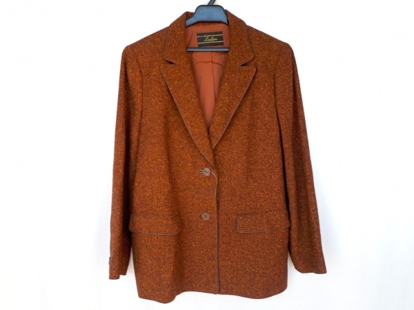Leilian(レリアン) ジャケット サイズ15 L レディース新品同様  ブラウン 肩パッド