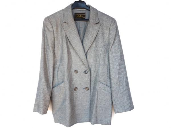 レリアン ジャケット サイズ11 M レディース新品同様  ブルー×グレー 肩パッド