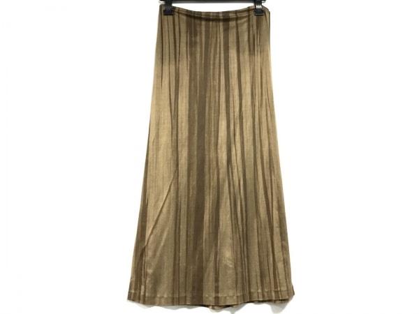 ジルサンダー ロングスカート サイズ34 XS レディース美品  ブラウン×ダークブラウン
