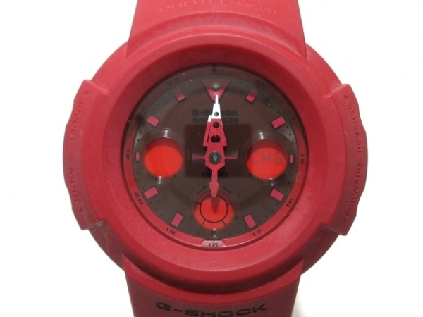 CASIO(カシオ) 腕時計 G-SHOCK レッドアウト AWG-M535C メンズ レッド