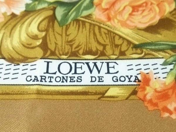 LOEWE(ロエベ) スカーフ美品  ブラウン×オレンジ×マルチ