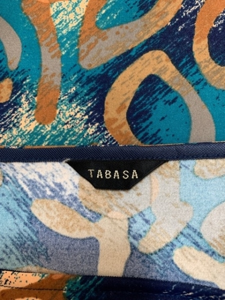 TABASA(タバサ) ワンピース サイズ36 S レディース美品  ブラウン×ネイビー×マルチ