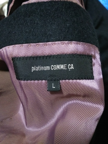 Platinum COMME CA(プラチナコムサ) コート サイズL メンズ新品同様  黒 冬物