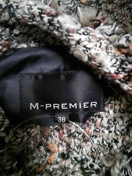 エムプルミエ ブルゾン サイズ38 M レディース ベージュ×黒×マルチ ジップアップ