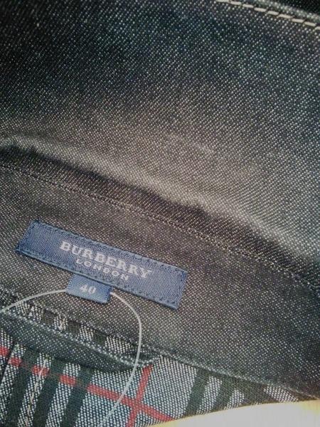 バーバリーロンドン ジャケット サイズ40 L レディース ネイビー デニム