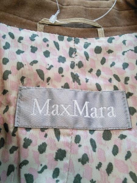 Max Mara(マックスマーラ) ジャケット レディース ブラウン ベロア/肩パッド