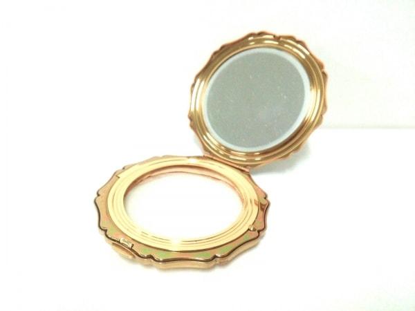 Stratton(ストラットン) ミラー美品  白×ゴールド×マルチ フラワー 陶器×金属素材