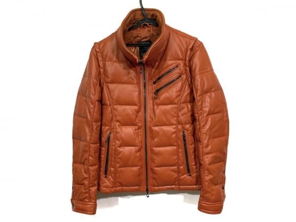 ニコルクラブ ダウンジャケット サイズ48 XL メンズ オレンジ FOR MEN/2way/冬物