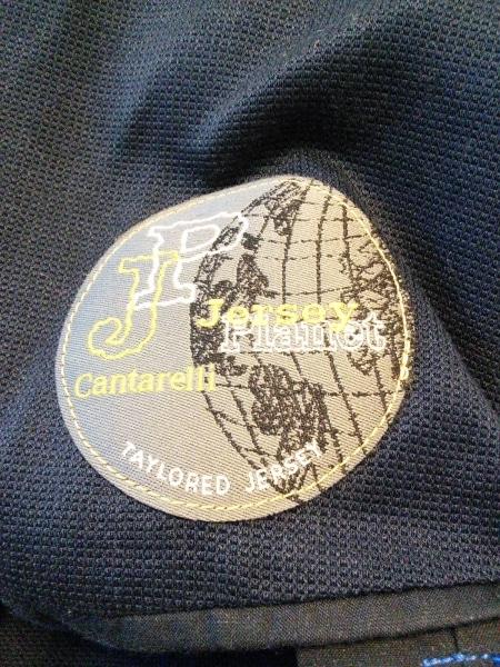 カンタレリ ジャケット サイズ48 XL メンズ ダークネイビー Jersey Planet
