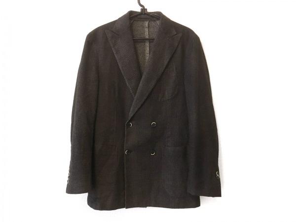 lardini(ラルディーニ) ジャケット サイズ46 XL メンズ ダークグレー×黒