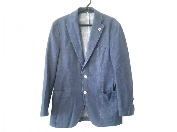 lardini(ラルディーニ) ジャケット サイズ46 XL メンズ ブルー デニム