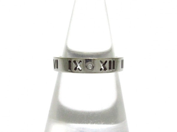TIFFANY&Co.(ティファニー) リング美品  アトラス K18WG×ダイヤモンド 4Pダイヤ