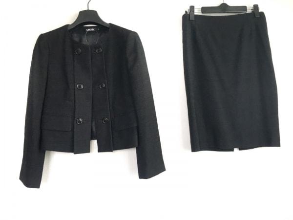 DKNY(ダナキャラン) スカートスーツ サイズ4 XL レディース ダークグレー
