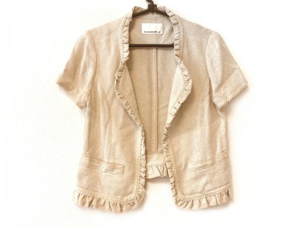 エムプルミエブラック ジャケット サイズ38 M レディース ベージュ 半袖