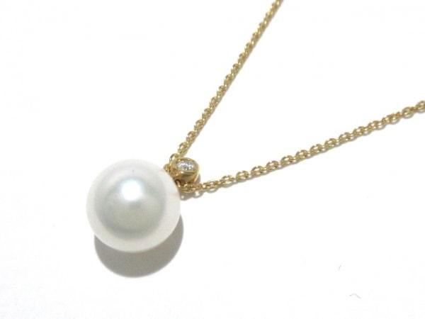 STAR JEWELRY(スタージュエリー) ネックレス美品  K18YG×パール×ダイヤモンド 白