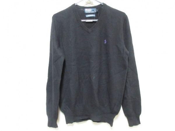 POLObyRalphLauren(ポロラルフローレン) 長袖セーター サイズS メンズ 黒 Vネック